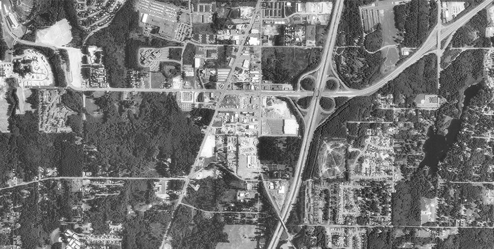 project area aerial view 1990